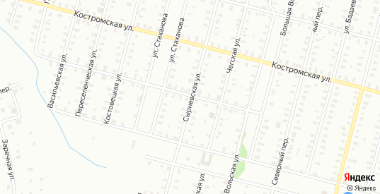 Малая Вонговская/Сырневская улица в Рыбинске с номерами домов на карте. Спутник и схема онлайн