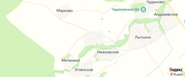 Карта деревни Петровского в Ярославская области с улицами и номерами домов