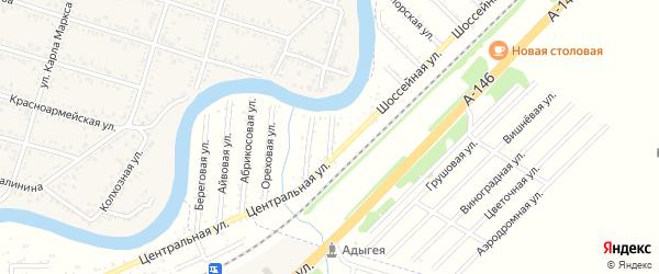 Заречная улица на карте Берега Афипса Адыгеи с номерами домов