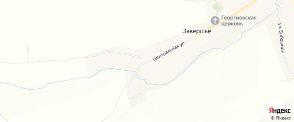 Карта села Завершья в Воронежской области с улицами и номерами домов