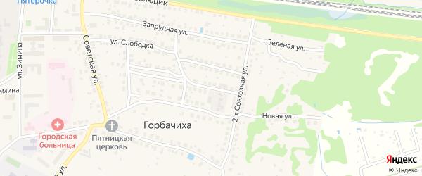 Совхозная 3-я улица на карте Дрезны с номерами домов