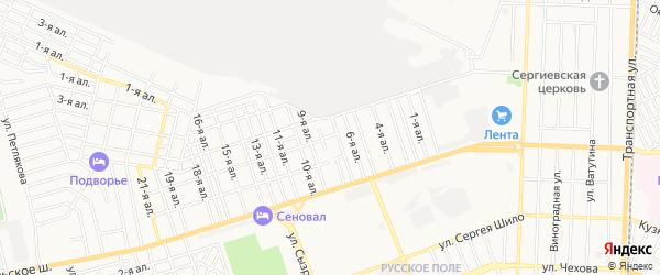 Карта поселка Управления трамвая города Таганрога в Ростовской области с улицами и номерами домов