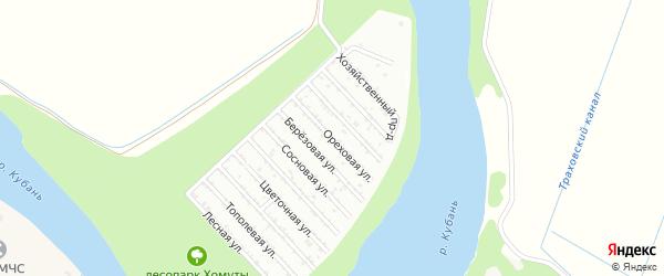 Ореховая улица на карте Строителя Адыгеи с номерами домов