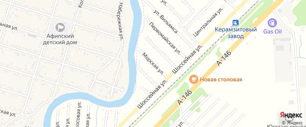 Морская улица на карте Красной Звезды Адыгеи с номерами домов