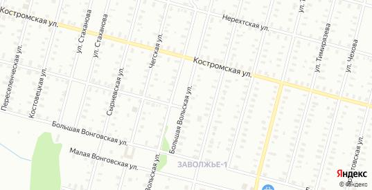 Нерехтская/Большая Вольская улица в Рыбинске с номерами домов на карте. Спутник и схема онлайн