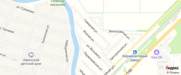 Южная улица на карте 70 лет Октября Адыгеи с номерами домов