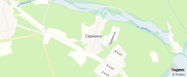 Территория СНТ Шанс на карте деревни Сермино Московской области с номерами домов