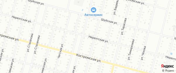 Васильевская/Нерехтская улица на карте Рыбинска с номерами домов