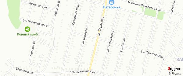 Улица Тарасова/Ляпидевского на карте Рыбинска с номерами домов