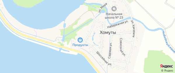 Улица Мира на карте хутора Хомуты Адыгеи с номерами домов