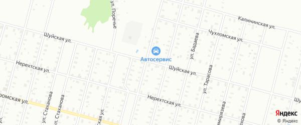 Башаровская/Шуйская улица на карте Рыбинска с номерами домов