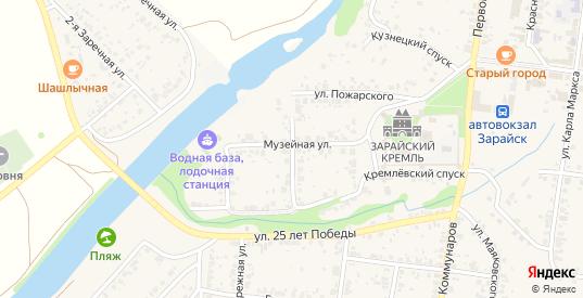 Низовая улица в Зарайске с номерами домов на карте. Спутник и схема онлайн