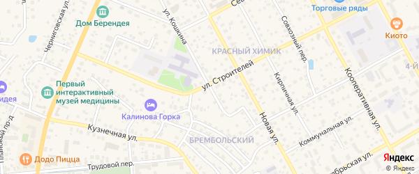 Улица Кошкина на карте Переславля-Залесского с номерами домов