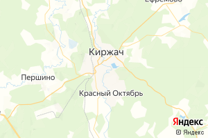 Карта г. Киржач Владимирская область