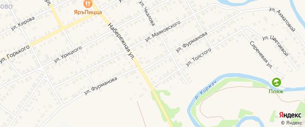 Улица Фурманова на карте Киржача с номерами домов