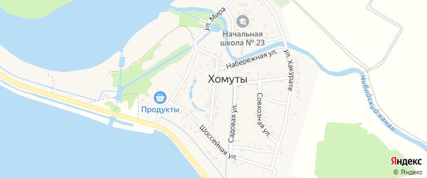 Улица Ленина на карте хутора Хомуты Адыгеи с номерами домов