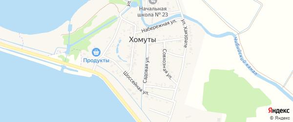 Садовая улица на карте Имени Хуаде Адыгеи с номерами домов