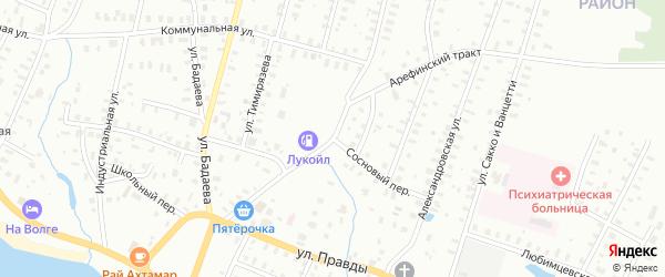 Тракт Арефинский/Сосновый переулок на карте Рыбинска с номерами домов