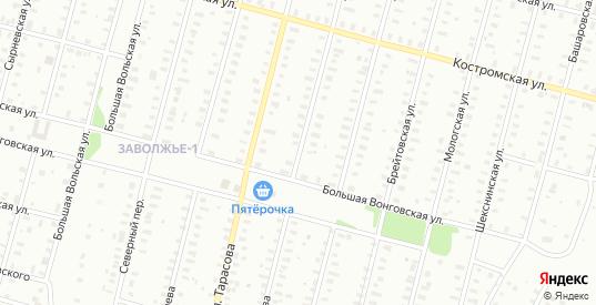 Улица Нерехтская/Тимирязева в Рыбинске с номерами домов на карте. Спутник и схема онлайн
