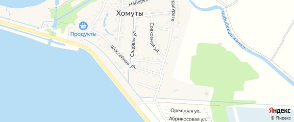 Полевая улица на карте хутора Хомуты Адыгеи с номерами домов