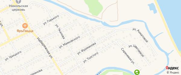 Улица Лермонтова на карте Киржача с номерами домов