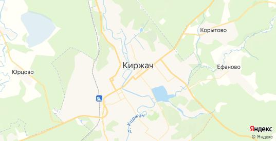 Карта Киржача с улицами и домами подробная. Показать со спутника номера домов онлайн