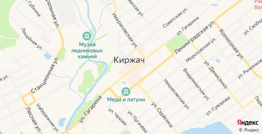 СТ Железнодорожник на карте Киржача с номерами домов