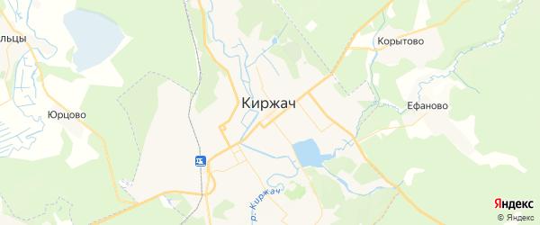 Карта Киржача с районами, улицами и номерами домов