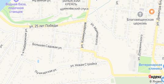 Улица Коммунаров в Зарайске с номерами домов на карте. Спутник и схема онлайн