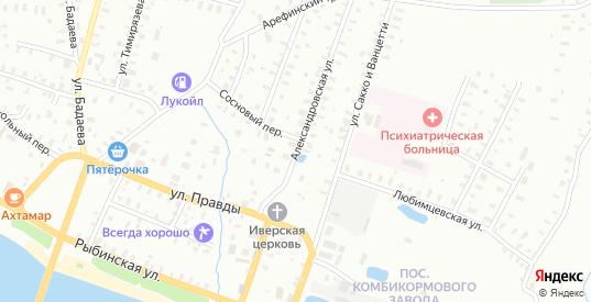 Александровская улица в Рыбинске с номерами домов на карте. Спутник и схема онлайн