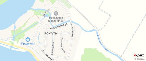 Улица Хакурате на карте хутора Хомуты Адыгеи с номерами домов
