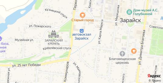 2-й Правобережный проезд в Зарайске с номерами домов на карте. Спутник и схема онлайн