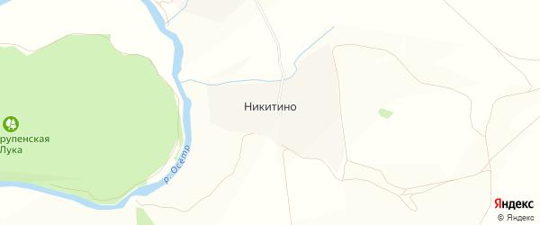 Карта деревни Никитино города Зарайска в Московской области с улицами и номерами домов