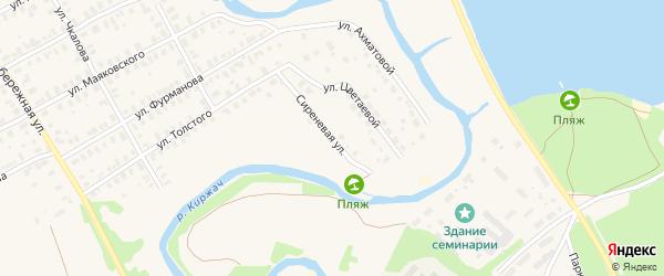 Сиреневая улица на карте Киржача с номерами домов