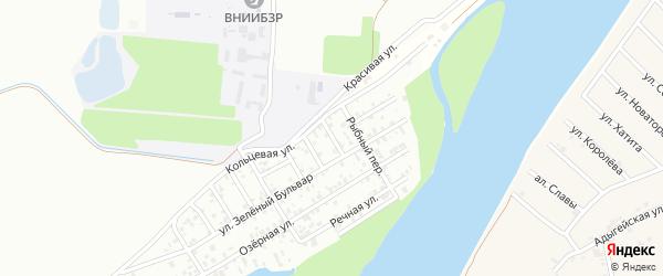 Абрикосовая улица на карте Кубани Адыгеи с номерами домов