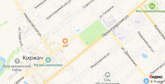 Владимирская улица в Киржаче с номерами домов на карте. Спутник и схема онлайн