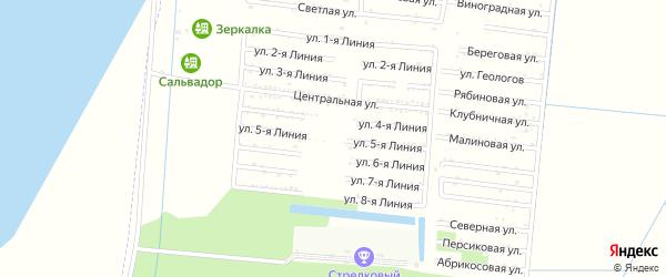 Улица 5 Линия на карте Первомаец Адыгеи с номерами домов