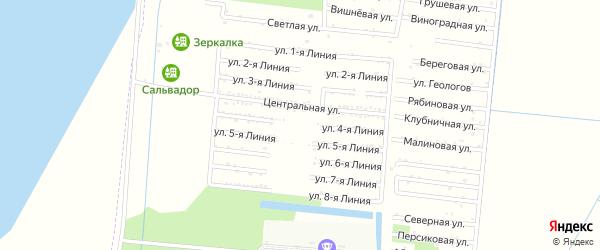 Улица 4 Линия на карте садового некоммерческого товарищества Первомайца с номерами домов