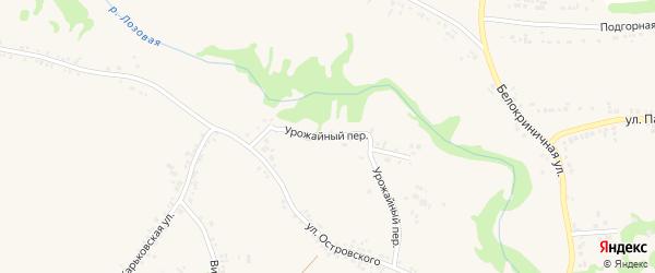 Урожайный переулок на карте поселка Ровенек с номерами домов