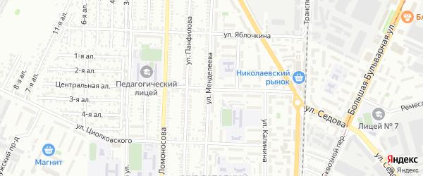 Улица Комарова на карте Таганрога с номерами домов