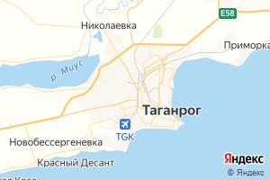 Карта г. Таганрог Ростовская область