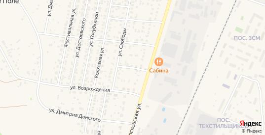 Московский 1-й переулок в Зарайске с номерами домов на карте. Спутник и схема онлайн