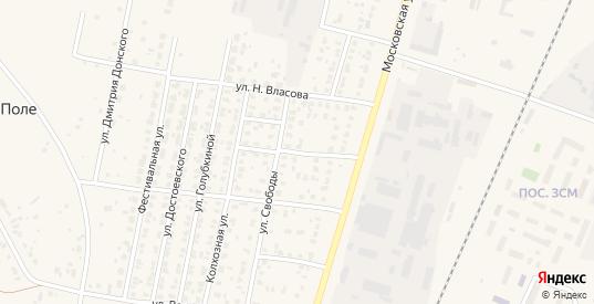 Московский 2-й переулок в Зарайске с номерами домов на карте. Спутник и схема онлайн