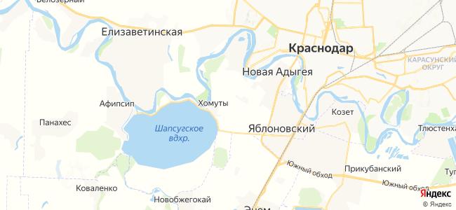 Хомуты на карте