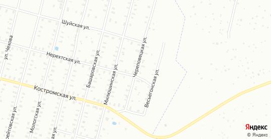 Нерехтская/Череповецкая улица в Рыбинске с номерами домов на карте. Спутник и схема онлайн