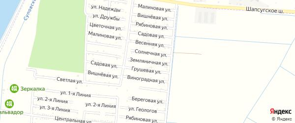 Земляничная улица на карте Имени Хуаде Адыгеи с номерами домов