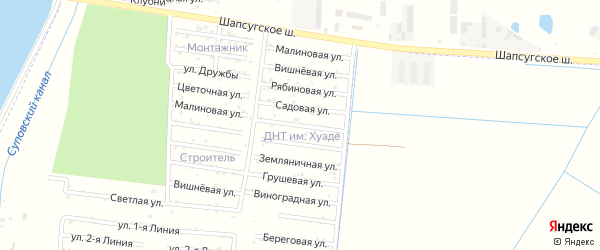 Весенняя улица на карте Имени Хуаде с номерами домов