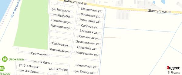 Солнечная улица на карте Имени Хуаде Адыгеи с номерами домов