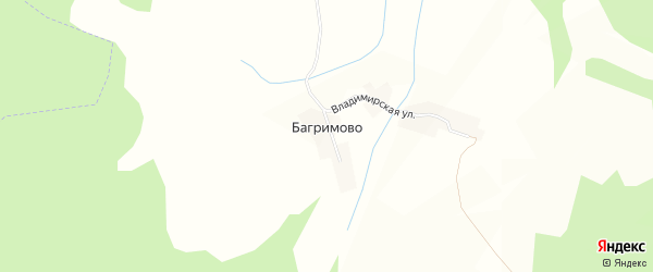 Карта села Багримово в Ярославская области с улицами и номерами домов