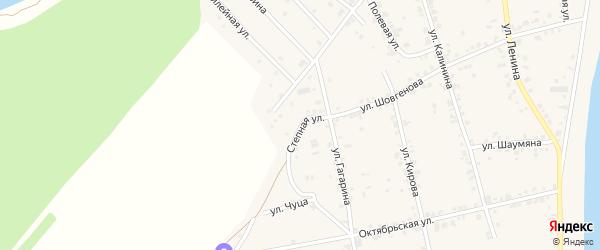 Степная улица на карте аула Старобжегокай Адыгеи с номерами домов